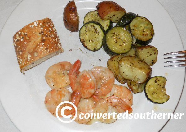 Beach Shrimp and Roasted Veggies