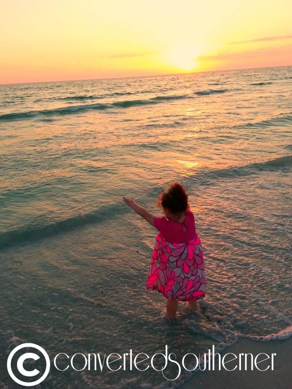 Lili at sunset