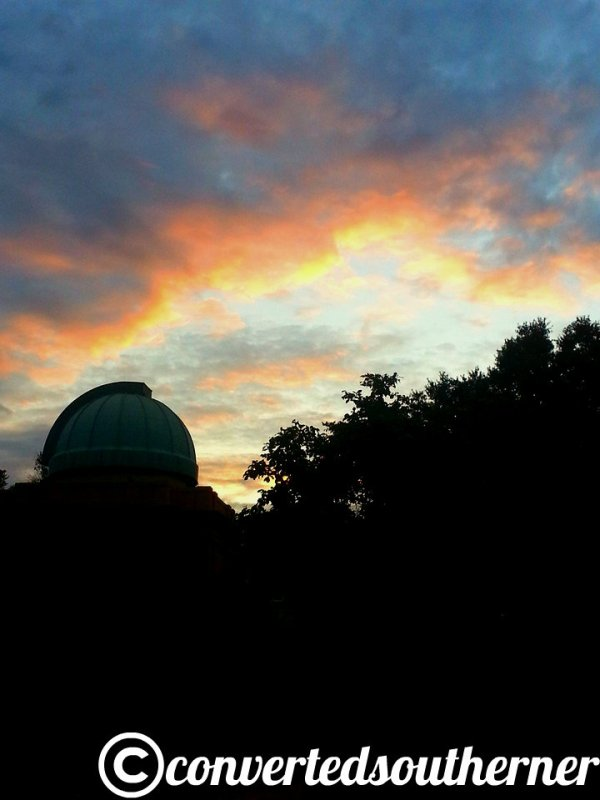Old Observatory on campus in twilight. Fall 2013