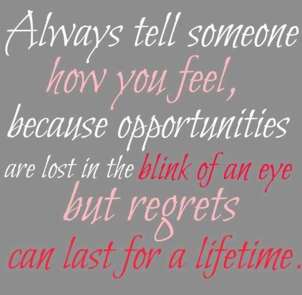 always tell