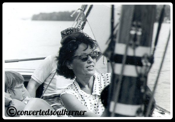 Kris sailing in the 1960's