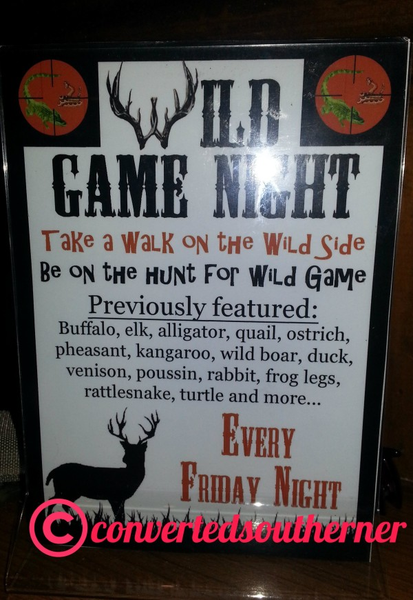 Wild game night at Freemason Abbey in Norfolk, VA
