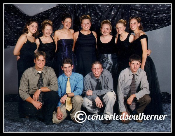 Senior Homecoming. October 1999. L to R top row- Erin, Me, Val, the Bestie, TT, Megs, Cam. L to R bottom- DJ, Sean, Josh and Chris... various high school boyfriends