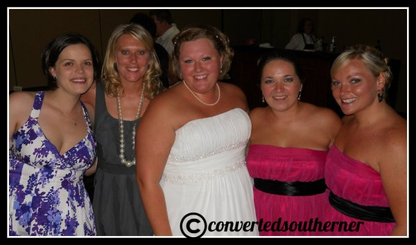 The Bestie's wedding. June 2010. L to R- Val, Lisa, the Bestie, Me and TT.