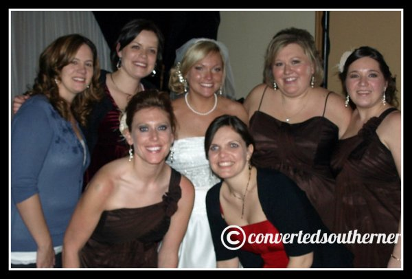 TT's wedding, January 2011. Front- Lisa and Erin Back- Kel, Val, TT, the Bestie and me.