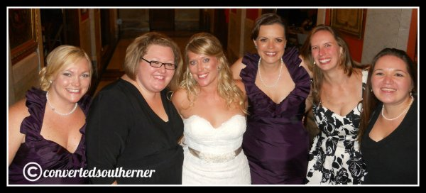 The last wedding. October 2012- Lisa's wedding. TT, the Bestie, Lisa, Val, Cam and Me.