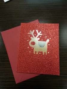 Glittery Reindeer Card