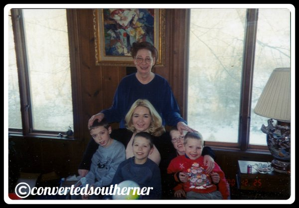 Christmas Day 2000... Me with my Grandma and cousins.