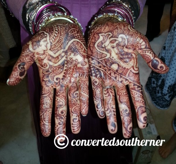 Pinkster's palms with her bridal henna
