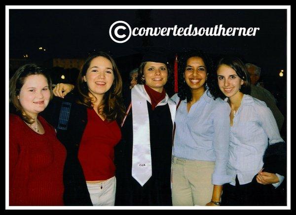 December 2003 graduation. Melton, me, Biner, Pinkster and Anna