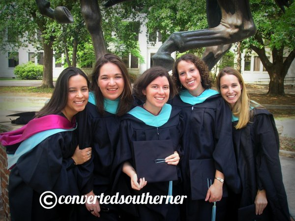 The girls ready for our hooding ceremony for out masters degrees