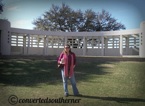 "Me on the ""Grassy Knoll"" at Dealy Plaza in Dallas, TX. Feb 2007"