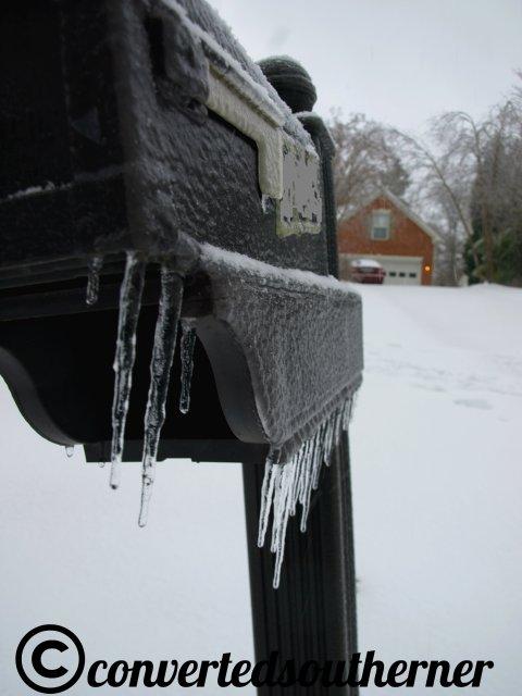 Frozen mailbox