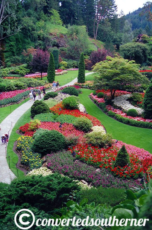 Butchart Gardens. Victoria, British Columbia, Canada. July 2004