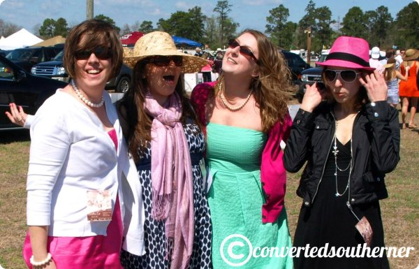 The girls at Cup in March 2011. Rach, Me, Gail and Anna.