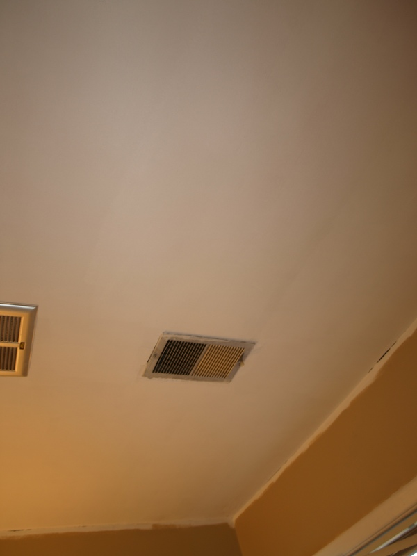 master bath ceiling. All smooth and clean!