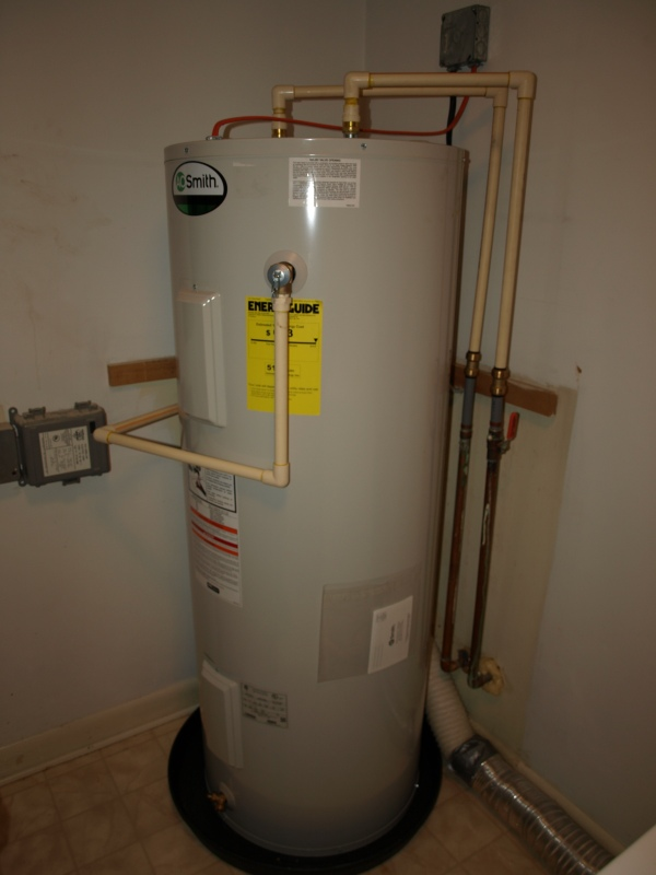 new water heater in the condo