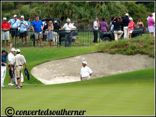 You can get an idea of how deep the bunkers are! The Ocean Course, 2012 PGA Championship