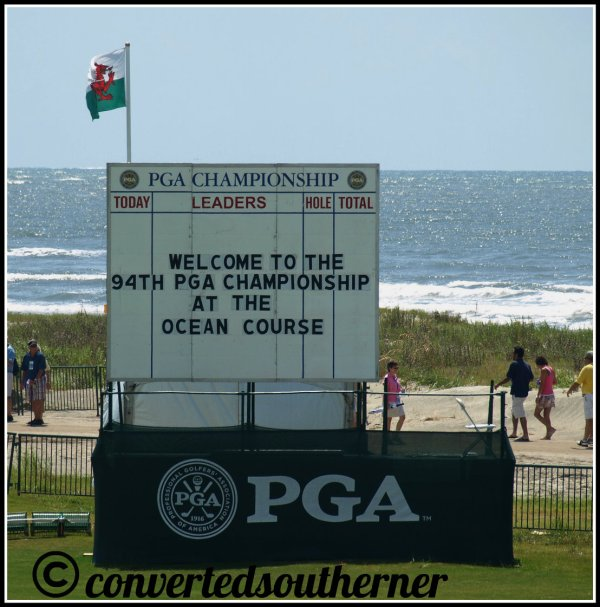 The Ocean Course, 2012 PGA Championship Complete with the Atlantic Ocean in the background. I love the South Carolina coast!