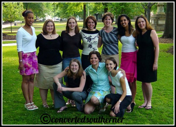 All of the girls a few days before college graduation. May 2004