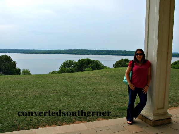 Me on the back porch of Mount Vernon in July 2009