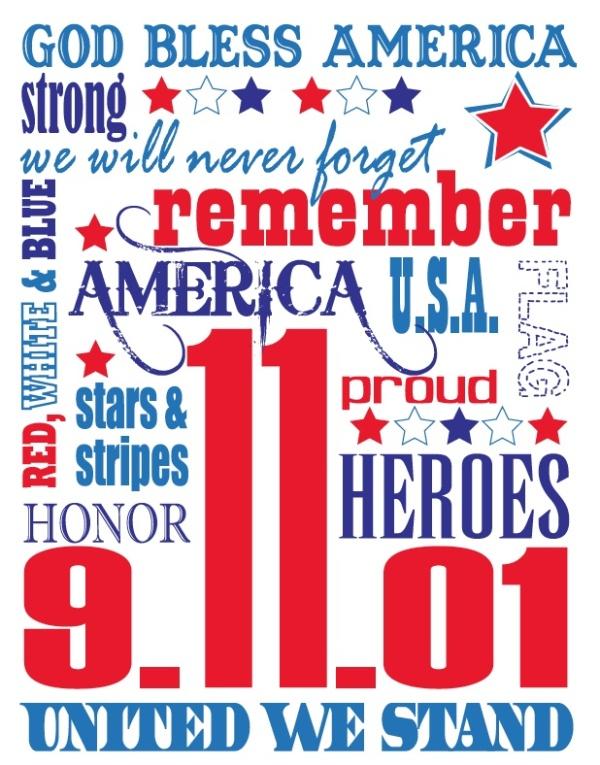 Remembering September 11, 2001 infographic via Pinterest