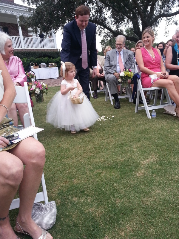 cutest flower girl ever! she was adorable