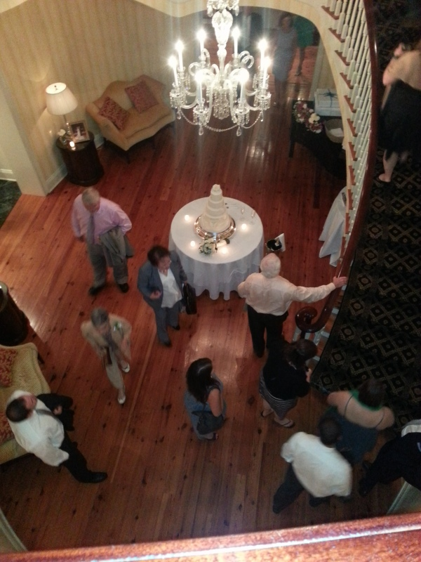 Cool view of the cake from the upstairs