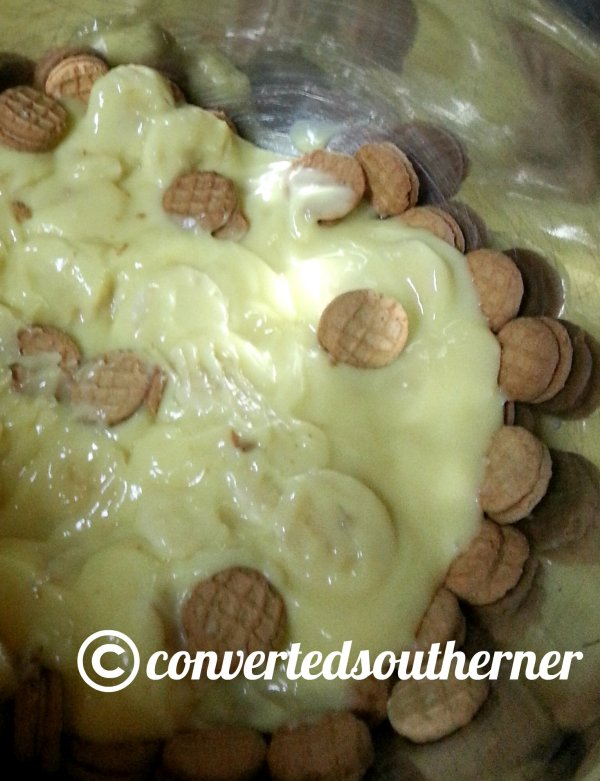 Nutter Butter Banana Pudding- before the whipped cream is added