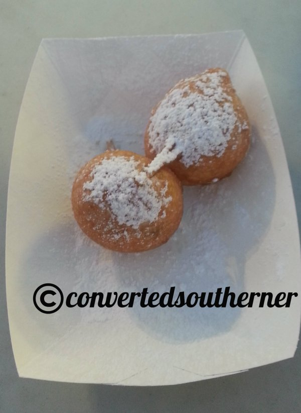 Deep fried cookie dough. I can't take all that sugar of the normal four, so I ask for a half order.