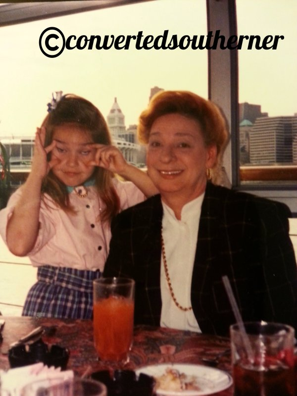 My 8th birthday. April 1989 with my Grandmother.