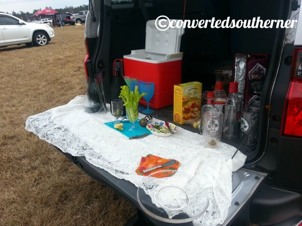 Part one of our tailgate spread