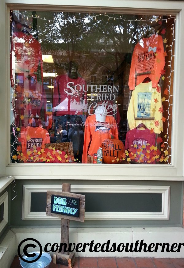 All the stores were open and the display at Southern Fried Cotton was adorable!