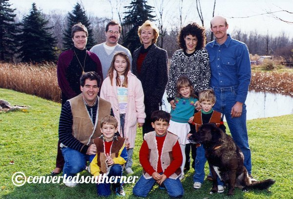 The Family. Thanksgiving 1990 in Medina, Ohio.