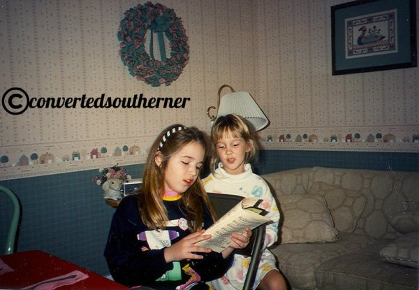 Jenna and I singing Christmas songs