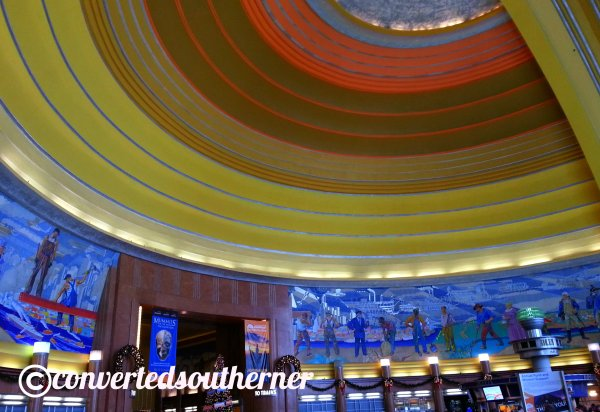 I love the rotunda at the Cincinnati Museum Center at Union Terminal.  One of my favorite places in Cincy.