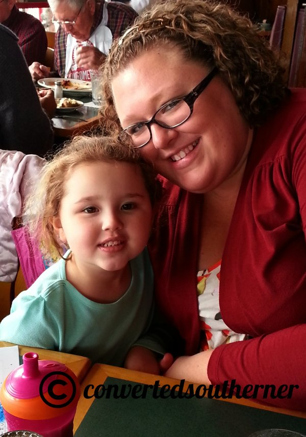 The Bestie with her sweet girl out at a fun lunch.