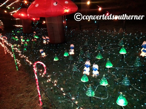Smurf lights!